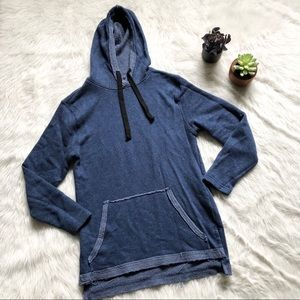 BDG Blue Hooded Tunic